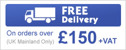 Free Delivery on orders over £150 +VAT (UK Mainland Only)