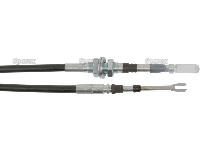 Hydraulic Valve Control Cables : S remote control cable with clevis end for joystick
