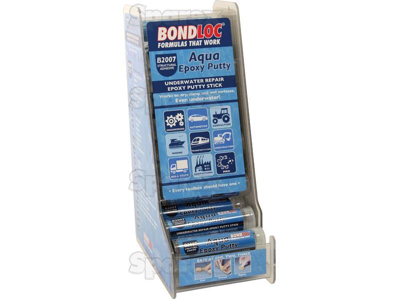 Aqua Epoxy Putty Display Stand with 24pcs x 50g sticks