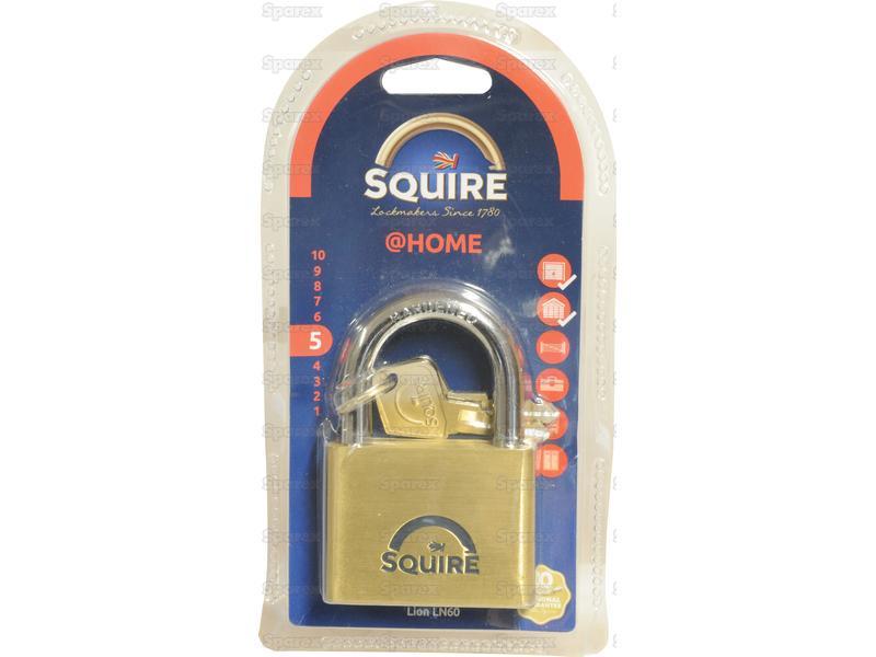 S squire solid brass lion range padlocks