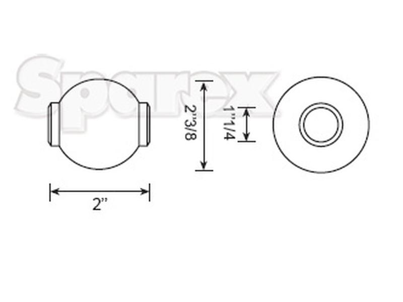5bc1531c9 Width  2  . Top Link Ball (Cat. 3 3) - view 1 ...