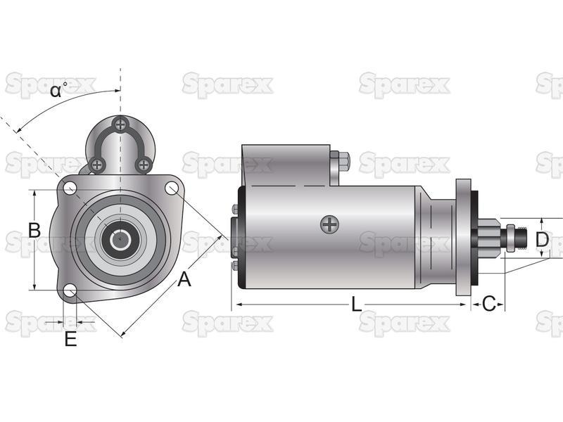 SPAREX® Adapter 220V UK//GER