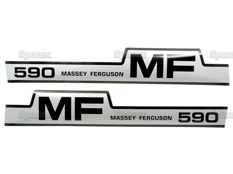 5179 Aufklebersatz Schlepper Massey Ferguson MF 590