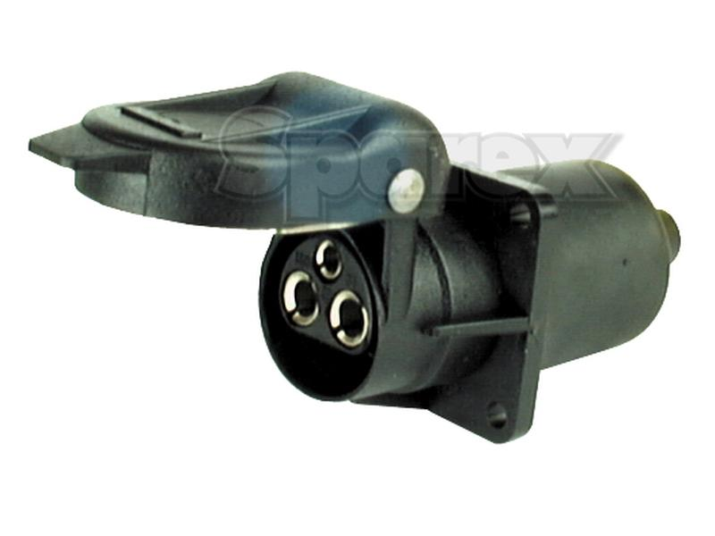 s 56377 3 pin plastic aux socket  4 bolt fixing  female