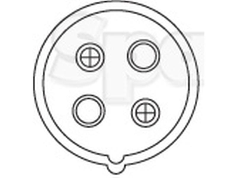 S 56470 4 Pin Auxiliary Male Socket Plastic For Ford New Holland