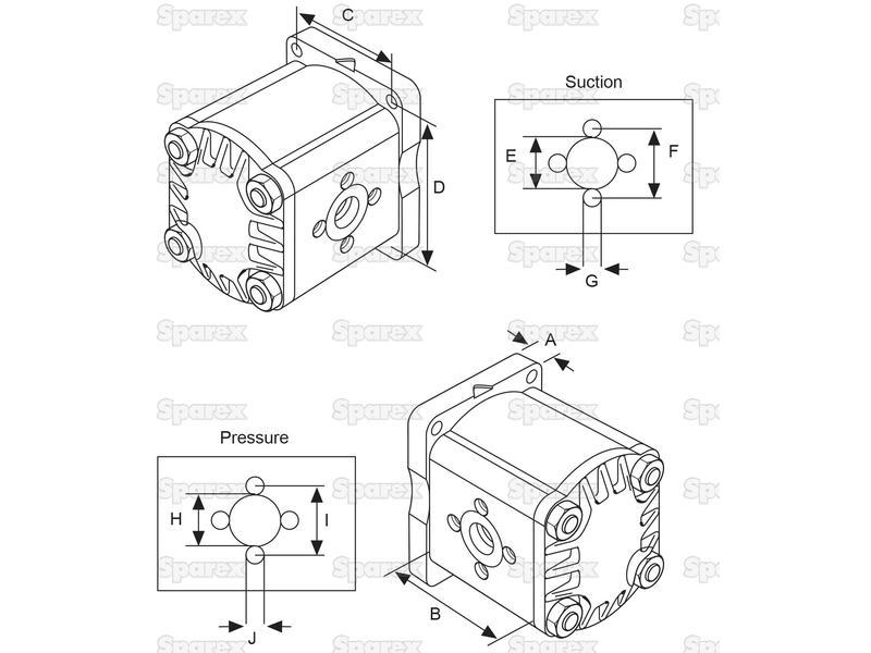 S 57797 Single Hydraulic Pump For Case Ih 704330r91 704330r95