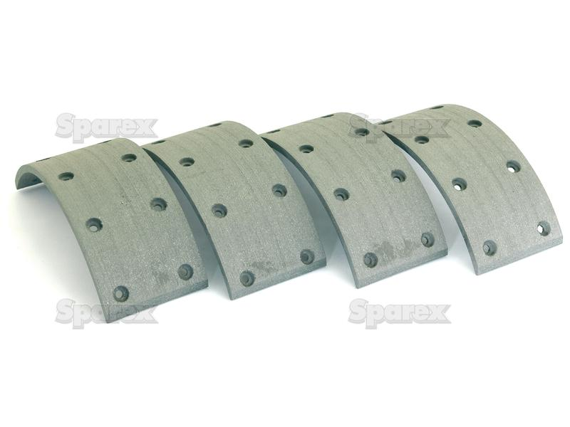 Brake Shoe Lining Thickness : S brake lining kit shoe length mm for deutz