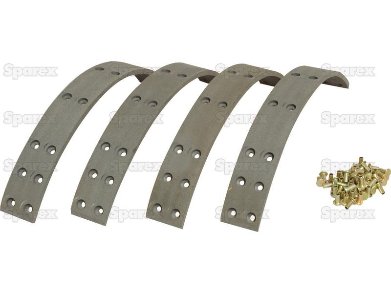 Brake Shoe Lining Thickness : S brake lining kit shoe length mm for ford new
