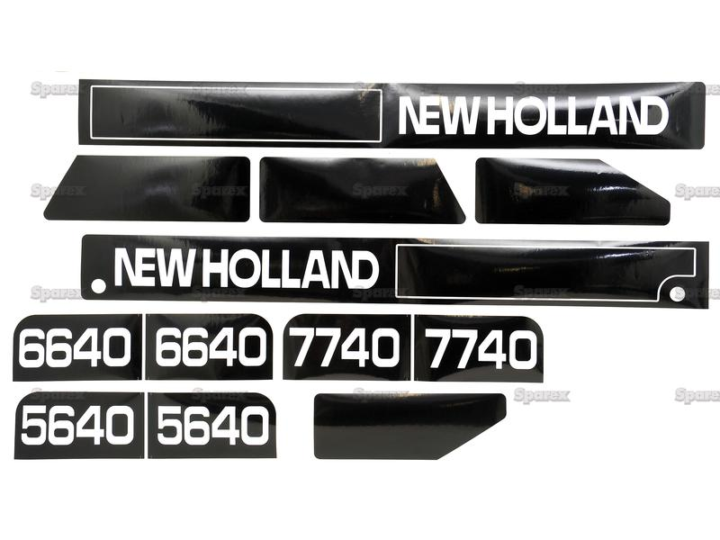 ford new holland decal kit for 5640,6640,7740 11/95>   (82008795/82008796)  - s 68253