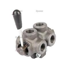 Hydraulic 6-Way Diverter Valve 3/8BSP