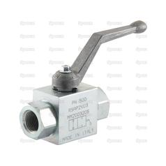 "Hydraulic 2-Way Shut-off Ball valve 1/2""BSP"