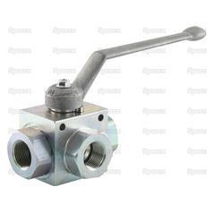 "Hydraulic 3-Way Diverter Ball valve 3/4""BSP"
