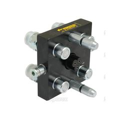 Faster Multiport Coupling - 4 Ports 3/8'' x M22 x 1.5 Metric Male Thread Thread (Mobile Part)