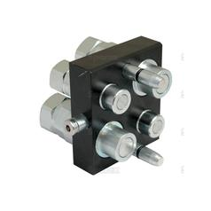 Faster Multiport Coupling - 4 Ports 1/2 & 3/4'' x 1/2'' & 3/4 BSP Female Thread (Mobile Part)