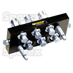 Faster Multiport Coupling - 6 Ports 3/8'' x 1/2'' BSP Female Thread (Mobile Part)