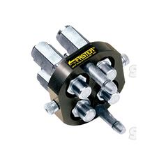 Faster Multiport Coupling - 4 Ports 3/8'' x 1/2'' BSP Female Thread (Mobile Part)