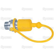 Dust Cap 1/2''  Yellow Fits Male Coupling TF12G