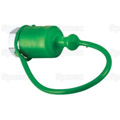 Dust Cap 1/2''  Green Fits Male Coupling TF12V