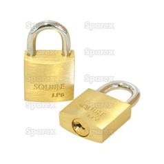 Squire Solid Brass Leopard Range Padlock - Brass (Security rating: 1)