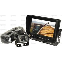 Wired Reversing Camera System with 7'' Waterproof LCD Monitor & Camera