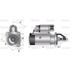 Starter Motor (Mahle) - 12V, 3.2Kw - Gear Reducted