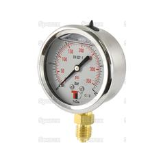 Hydraulic Pressure Gauge Ø63mm (0-25 Bar)