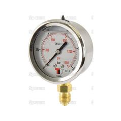Hydraulic Pressure Gauge Ø63mm (0-100 Bar)
