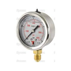 Hydraulic Pressure Gauge Ø63mm (0-400 Bar)