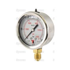 Hydraulic Pressure Gauge Ø63mm (0-1000 Bar)