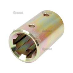 PTO Splined Coupling - Female spline 1 3/4'' - 6 with Locking Pin.