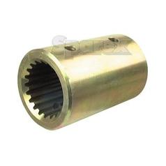 PTO Splined Coupling - Female spline 1 3/4'' - 20 with Locking Pin.