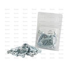 Screw Type D Shackle, Pin Ø6-13mm x 12-24mm Jaw Width (10pcs. Agripak)