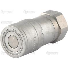 Flat Faced Hydraulic Coupling 3/8''BSP female Agripak