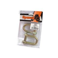 D Shackle, Pin Ø: 13mm, Jaw Width: 25.4mm (2pcs. Agripak)
