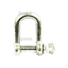 Screw Type D Shackle, Pin Ø8mm x 16mm Jaw Width ( )