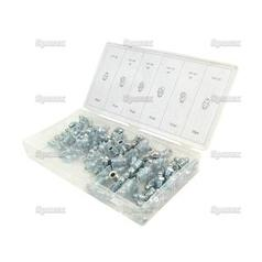 "Imperial Grease Nipple Assortment (110 pcs.) | Sizes: 1/4"" UNF & 1/8"" BSP"