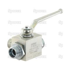 Hydraulic 3-Way Diverter Ball valve M22 x 1.5