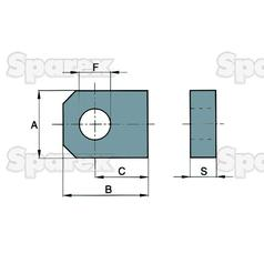 WELDABLE LOCKING PLATE 16X20MM