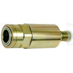"Hydraulic Quick Release Rigid Mounted Break-away Coupling 1/2"" Female with M22 x 1.5 male thread"