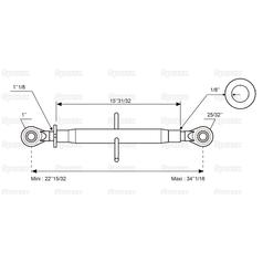 Top Link Standard Duty (Cat.20mm/2) Ball and Ball, Min. Length: 572mm. - view 3