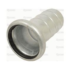 "Female Coupling with Hose end 6"" (Galvanised)  
