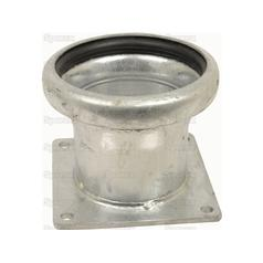 "Female Coupling with Flanged end 6"" Galvanised B  