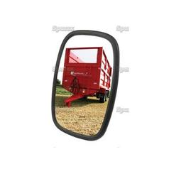 Mirror Head Flat Rectangular | Height: 198mm Width: 130mm Arm Ø: 12 - 15mm