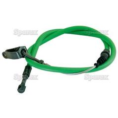 PTO Clutch Cable - Length: 1115mm, Outer cable length: 815mm.
