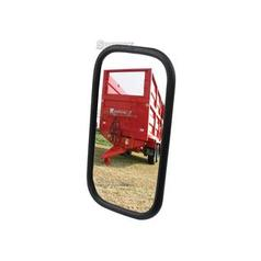 Mirror Head Flat Rectangular| Height: 240mm  Width: 130mm  Arm Ø: 12 - 15mm