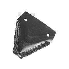 Knife section - over serrated -  83x76x2.75mm -  Hole Ø18mm -  Hole centres  51mm - Replacement forClaas