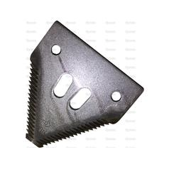 Knife section - over serrated -  80x76x2.75mm -  Hole Ø15mm -  Hole centres  51mm - Replacement forSchumacher
