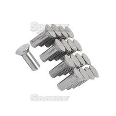 Box of Countersunk Rivets, Size: M6 x 16mm (Din 661)