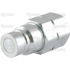 Sparex Flat Faced Coupling Male 3/8'' Body x 1/2'' BSP Female Thread