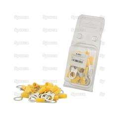 Pre Insulated Terminals Ring Lug 10.5mm yellow 25 pcs Agripak